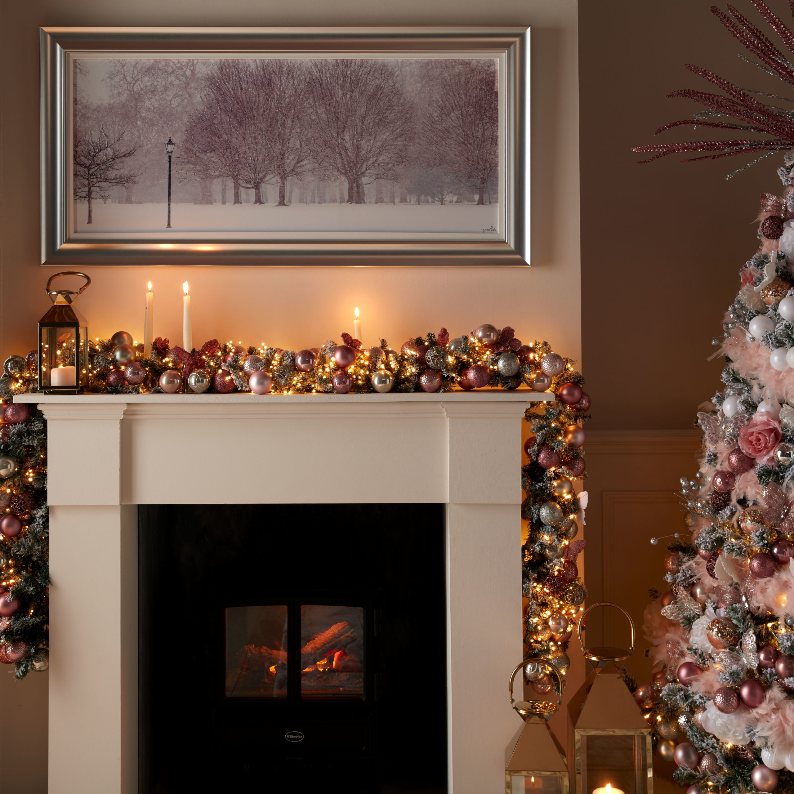 Firepalces and Fireplace garlands- Housing Units
