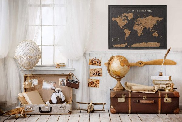 World map wall art- Housing Units